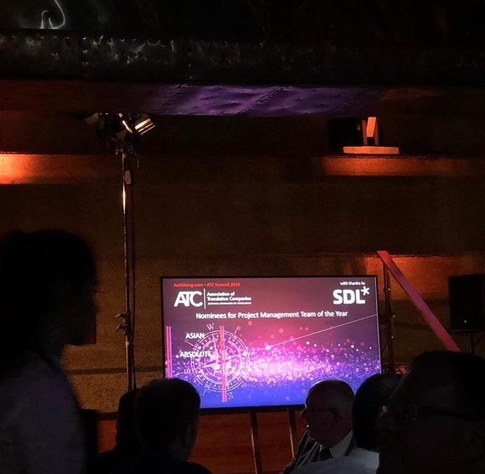 Asian Absolute – Winner of the ATC Project Management Team of the Year Award 2019!
